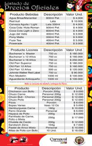 Precios en Carnaval