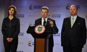 """""""La Corte de La Haya ha incurrido en unas contradicciones de fondo"""", dijo este jueves el Presidente Juan Manuel Santos al referirse a las decisiones de hoy de ese organismo internacional."""