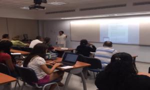Clases con la investigadora Mirta Buelvas.