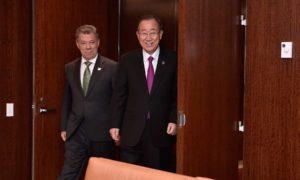 La paz de Colombia es una gran victoria para la humanidad, afirmó el Secretario de la ONU luego de reunirse con el Presidente Santos
