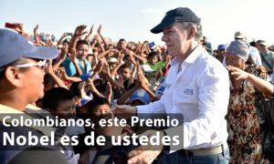 Colombianos, este Premio Nobel es de ustedes. La paz es posible: Presidente Santos