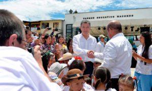 Las autoridades departamentales y municipales agradecieron al Presidente Santos haber declarado a tres municipios antioqueños libres de sospecha de contaminación de minas antipersonal.