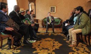 Diálogo del Presidente Santos con representantes de organizaciones de campesinos, indígenas y afrodescendientes, quienes afirmaron que los colombianos y la comunidad internacional le dieron al Jefe de Estado un claro mandato por la paz.