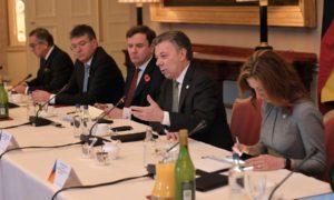 Encuentro de negocios Colombia-Reino Unido en el Palacio de Buckingham, liderado este miércoles por el Presidente Juan Manuel Santos.