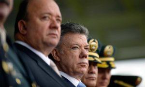 El Presidente Juan Manuel Santos exaltó los resultados positivos en la lucha que libra la Policía Nacional contra el crimen organizado, durante la conmemoración de los 125 años de la institución.