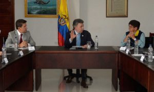 Reunión de seguimiento a las medidas de prevención frente a la temporada invernal, liderada por el Presidente Santos en Rionegro (Antioquia).