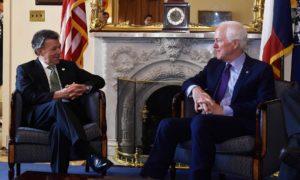 """""""Hemos tenido reuniones productivas e interesantes con congresistas de ambos partidos en Estados Unidos"""", dijo el Presidente Juan Manuel Santos."""