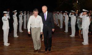 El Presidente Juan Manuel Santos recibió al Vicepresidente de Estados Unidos, Joe Biden, este jueves en la Casa de Huéspedes Ilustres de Cartagena.