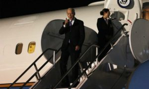 Llegada a Cartagena del Vicepresidente de Estados Unidos, Joe Biden, para participar en el Consejo Empresarial de los dos países, que se realizará este viernes en Cartagena.