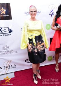 Carmen Alicia Lara en la alfombra roja de Premios Estrellas Digitales