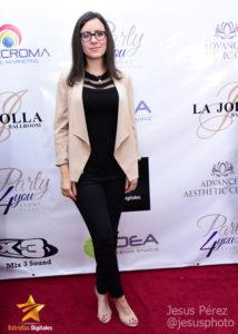 Carla Angola en la alfombra roja de Premios Estrellas Digitales