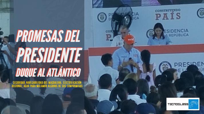 Promesas del presidente Duque al Atlántico