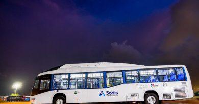 Nuevos buses de  lujo de @AlianzaSodis a gas, aire acondicionado, espacio para pasajeros de movilidad reducida, GPS, cámaras a la @policianalcol, WIFI gratis, vía @_VentanaAlMundo