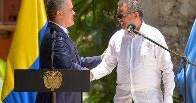 La OMS hace reconocimiento a Colombia por su intensa labor de prevención y ataque al COVID 19
